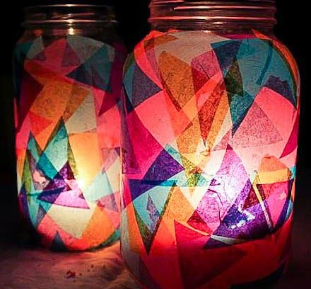 Teen Craft: Decorated Glass Jars