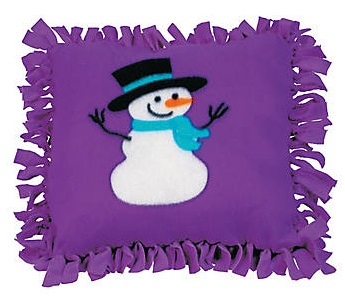 Tween Craft: Snowman Tied Pillow