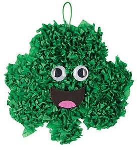 Tween Craft: Crinkle Shamrock