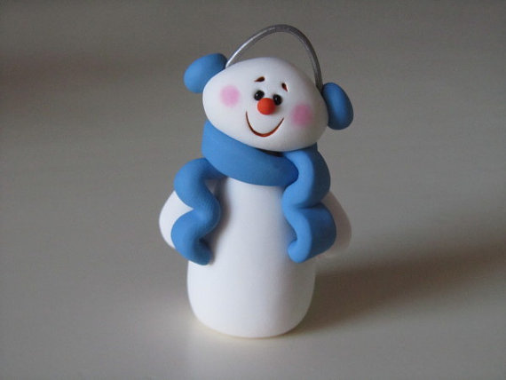 Teen Craft: Polymer Clay Snowmen