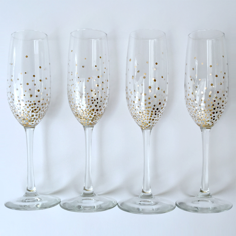 New Year's Toasting Glasses Craft Workshop