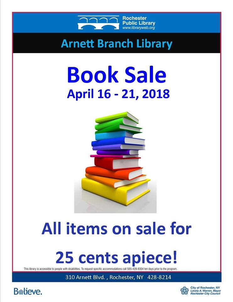 Arnett Library Book Sale