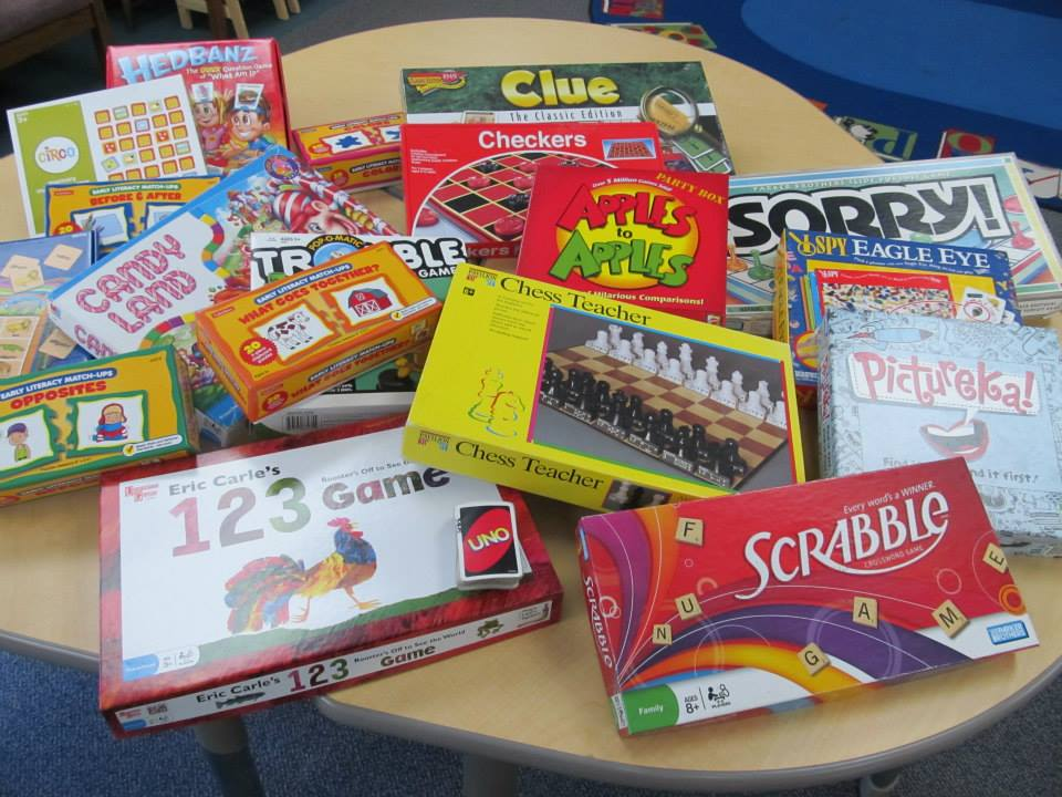 Board Gaming Time!  Play some very cool board games at the library!