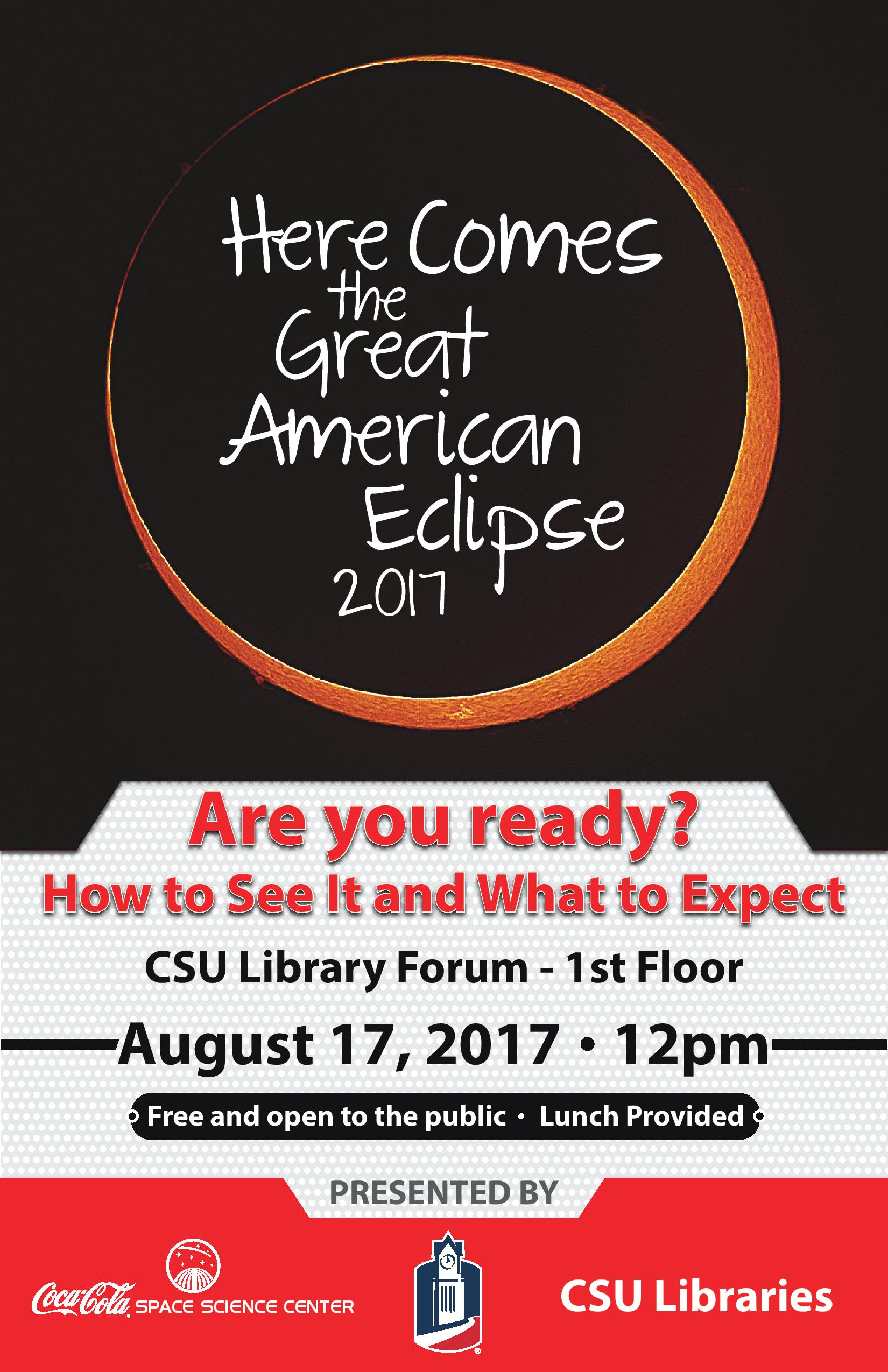 Here Comes the Great American Eclipse 2017