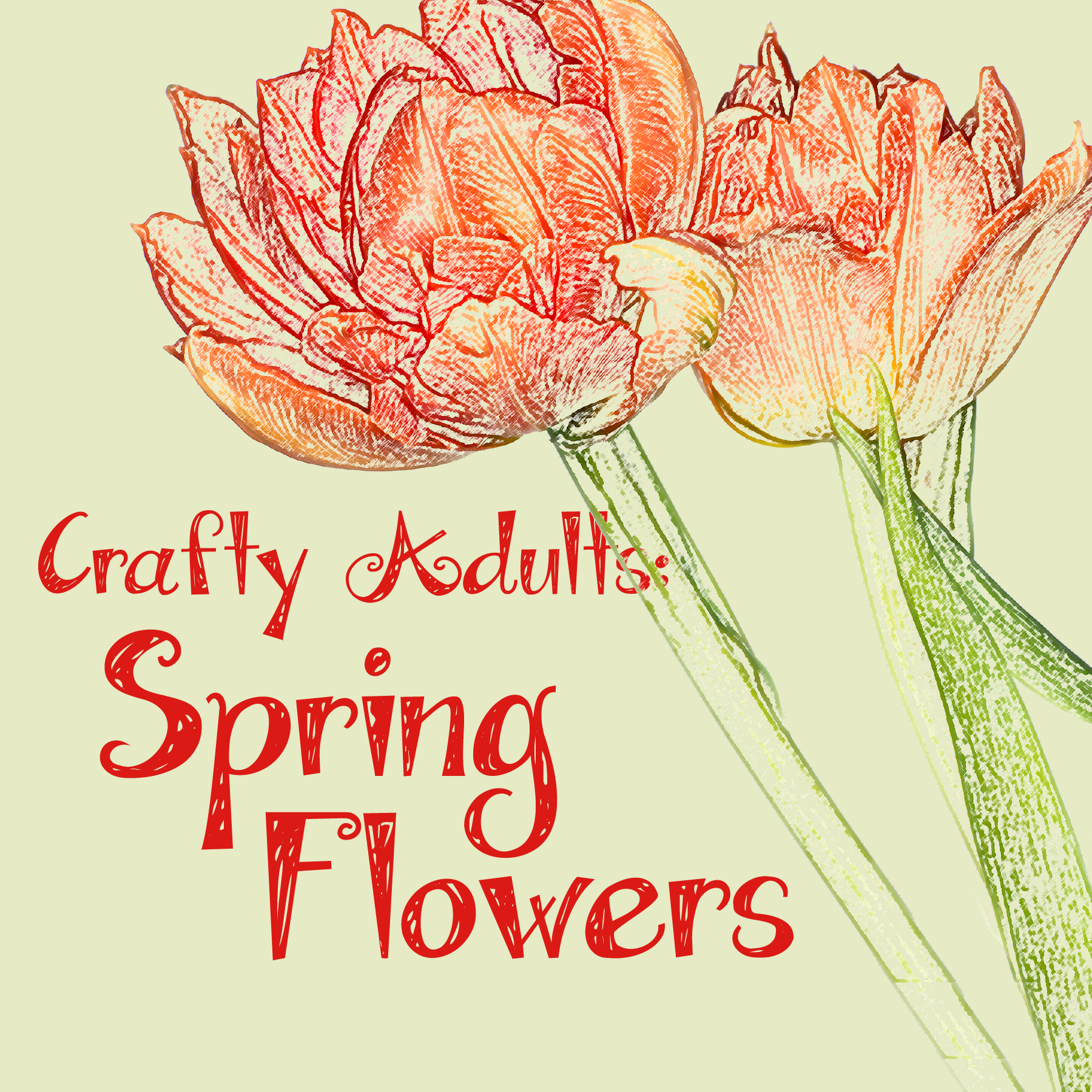 Crafty Adults: Spring Flowers