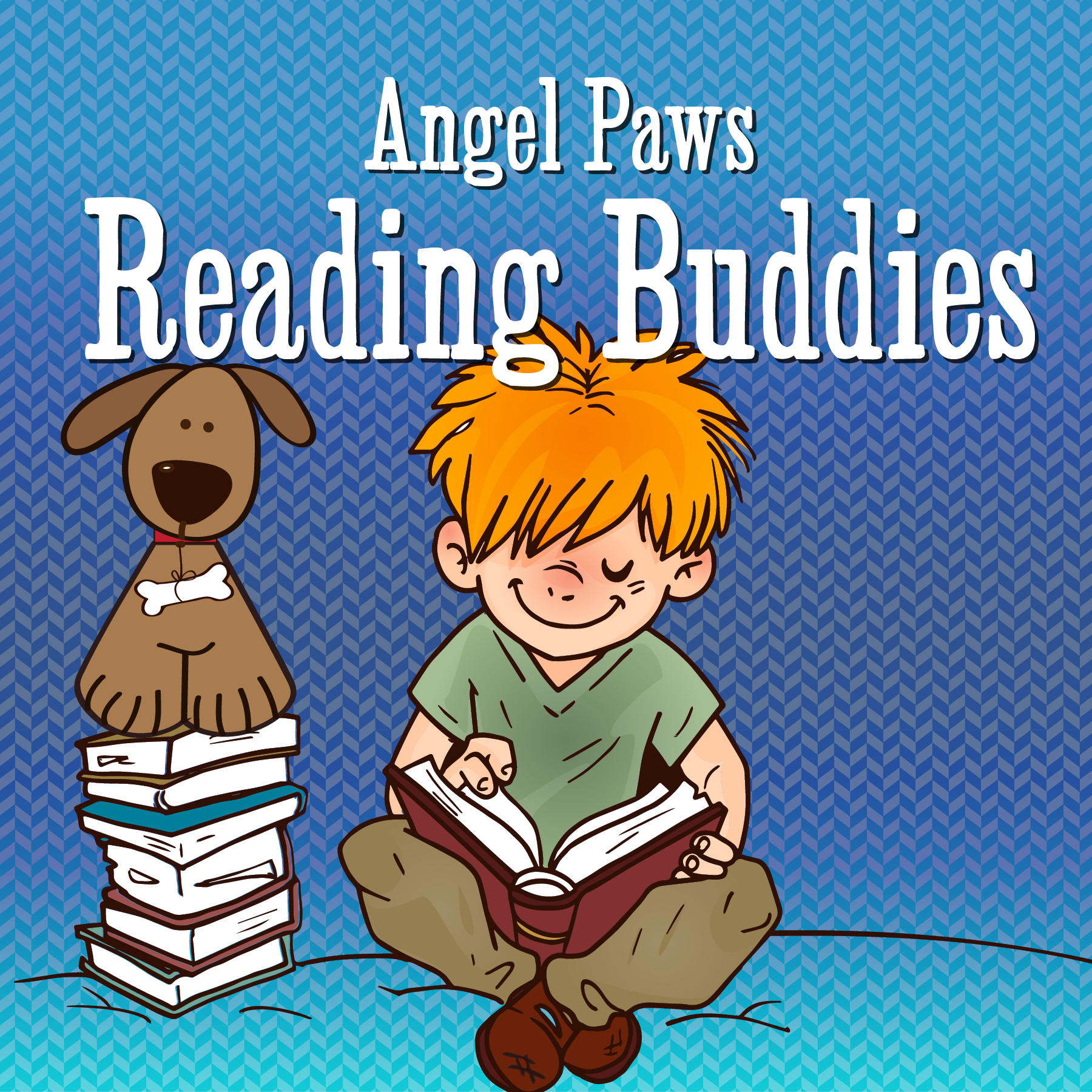 Reading with Angel Paws' Reading Buddies!