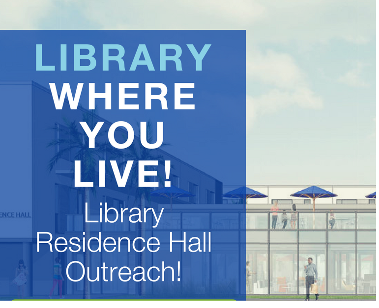 Library Where You Live (Outreach Table - Countdown to FINALS)