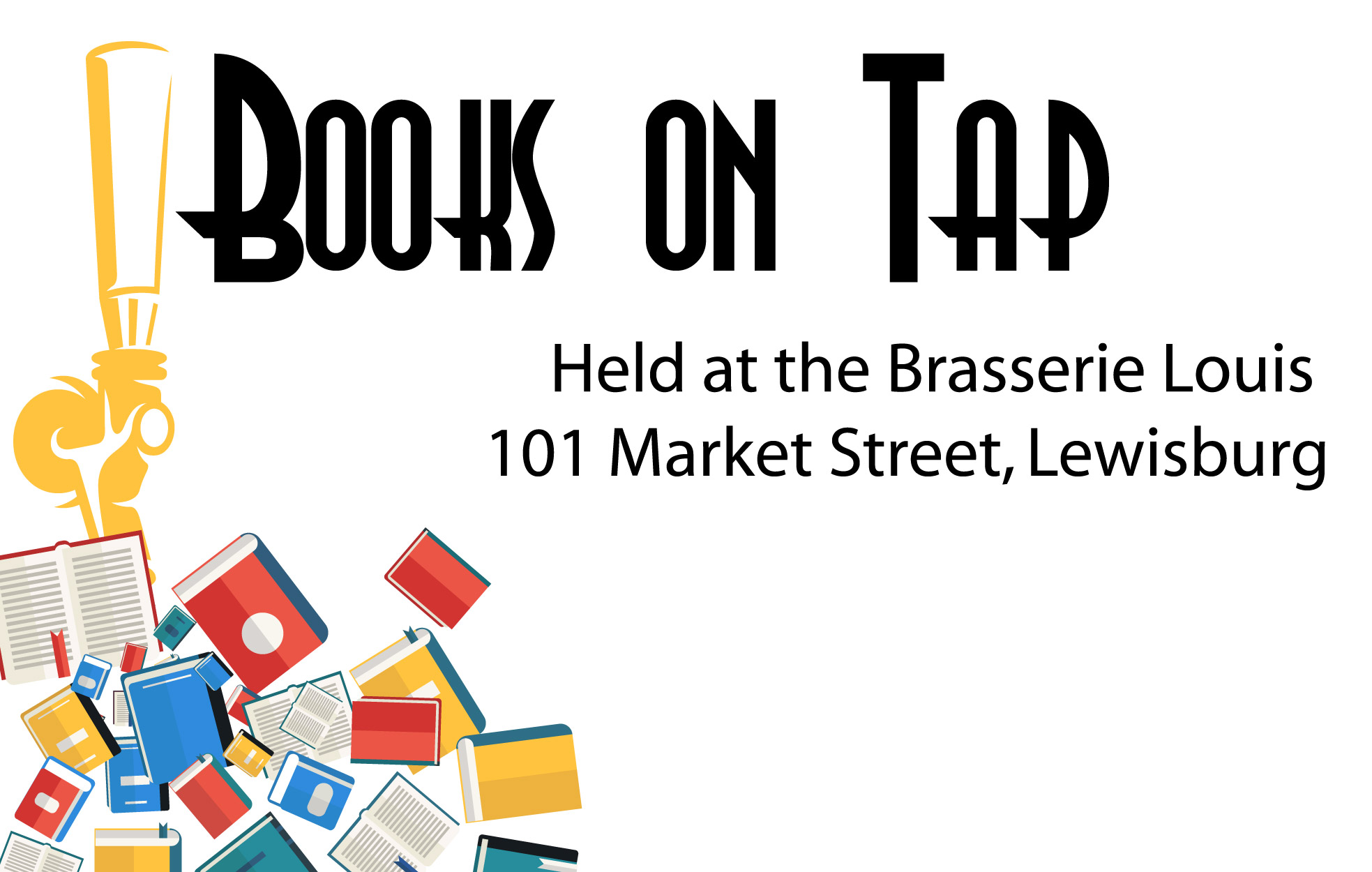 Books on Tap at the Brasserie Louis