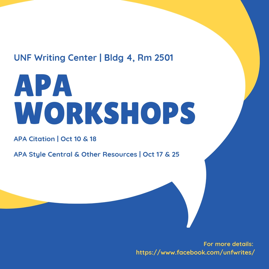 APA Style Central & Resources Workshop