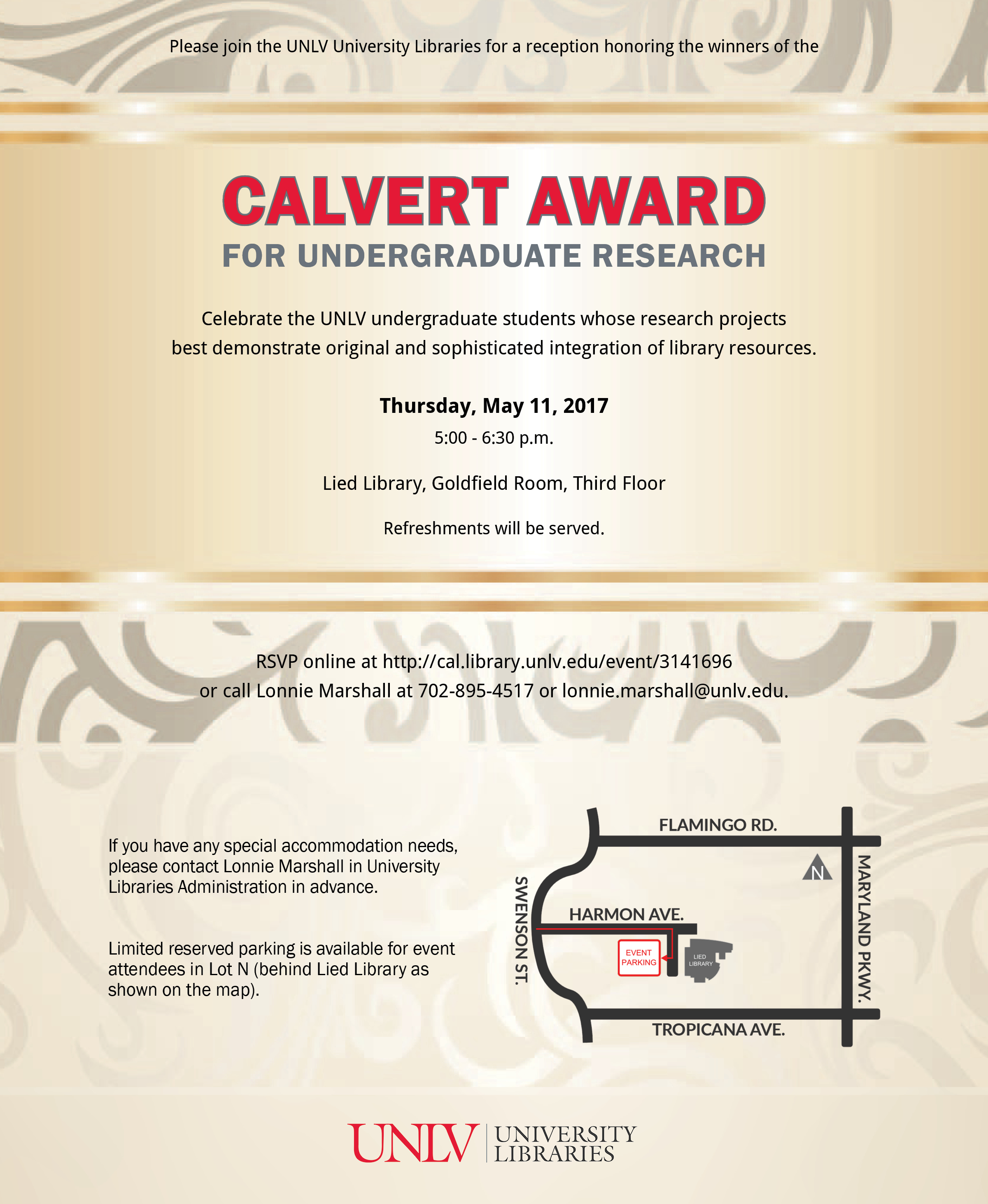 2017 Calvert Award for Undergraduate Research