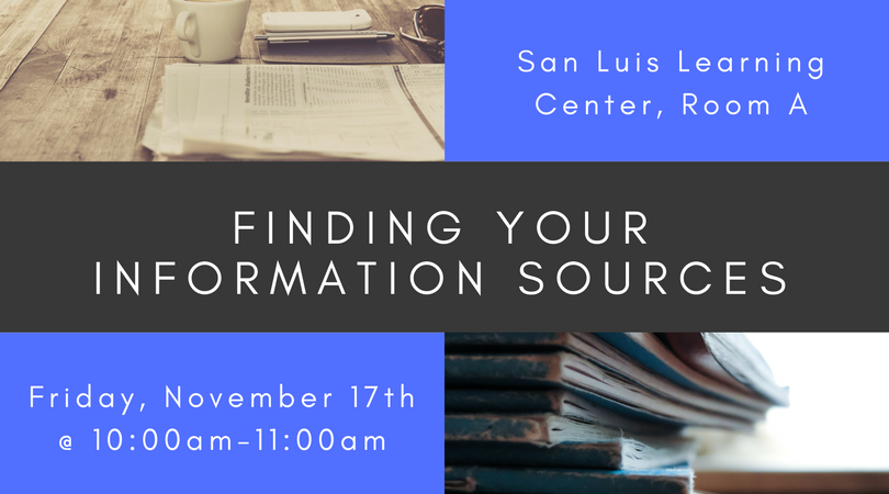 Finding Your Information Sources