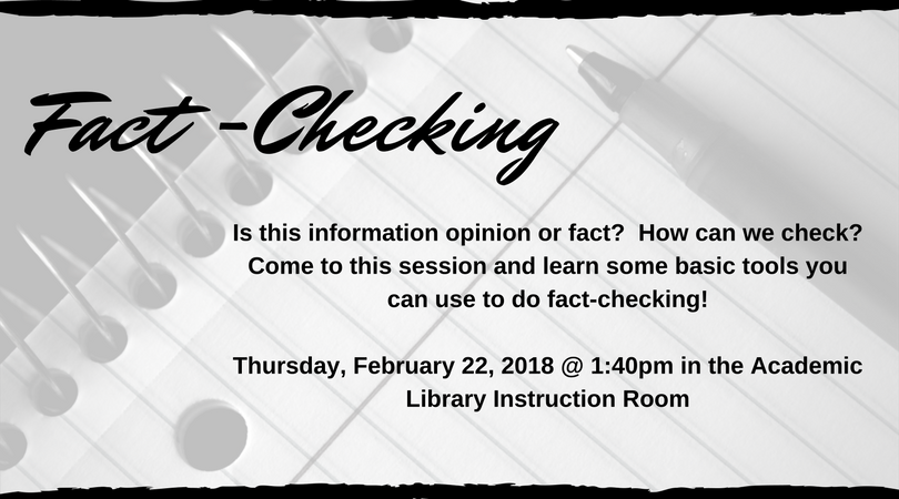 Fact-Checking: Is this information opinion or fact? How can we check?