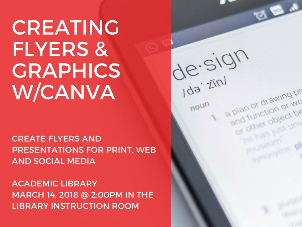 Create Flyers and Graphics using Canva