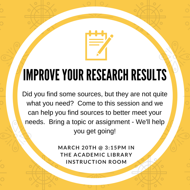 How to Improve your Research Results