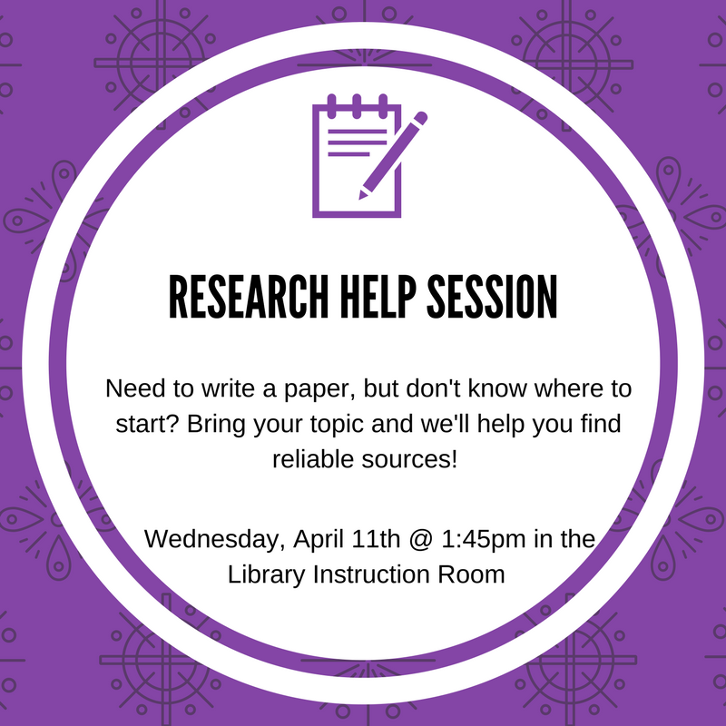 Research Help Session