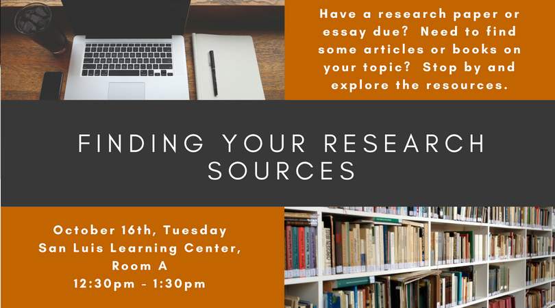 Finding Your Research Sources