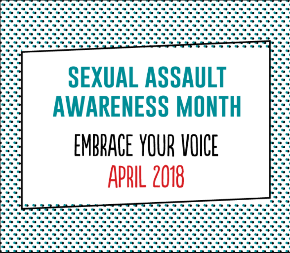 Book Display in Support of Sexual Assault Awareness Month, 2018