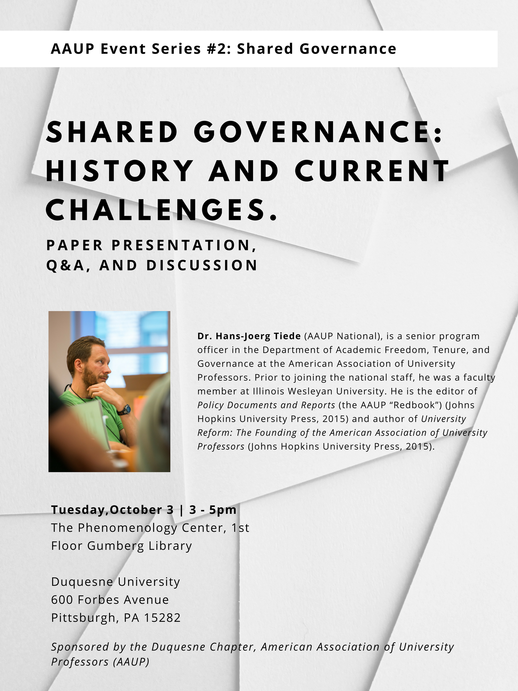 AAUP Events Series (#2): University Governance and Academic Freedom