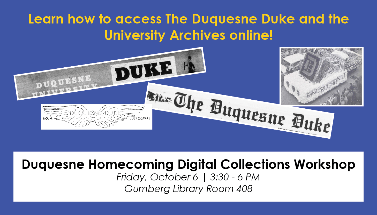 Duke Archives Homecoming Digital Collection Workshop