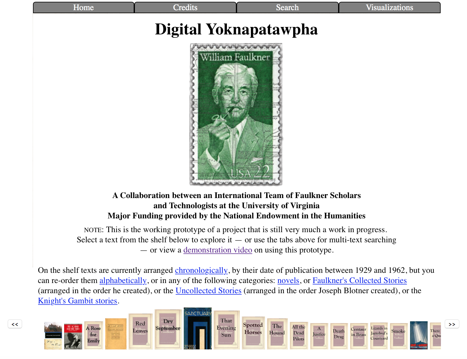 Digital Yoknapatawpha: Collaboratively Recreating Faulkner's County