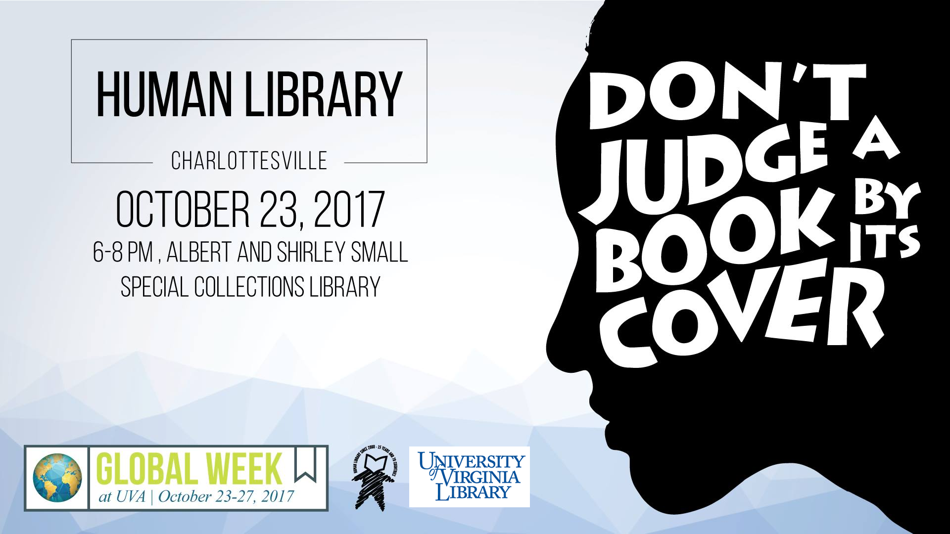 Human Library, Charlottesville. A Global Week Activity.