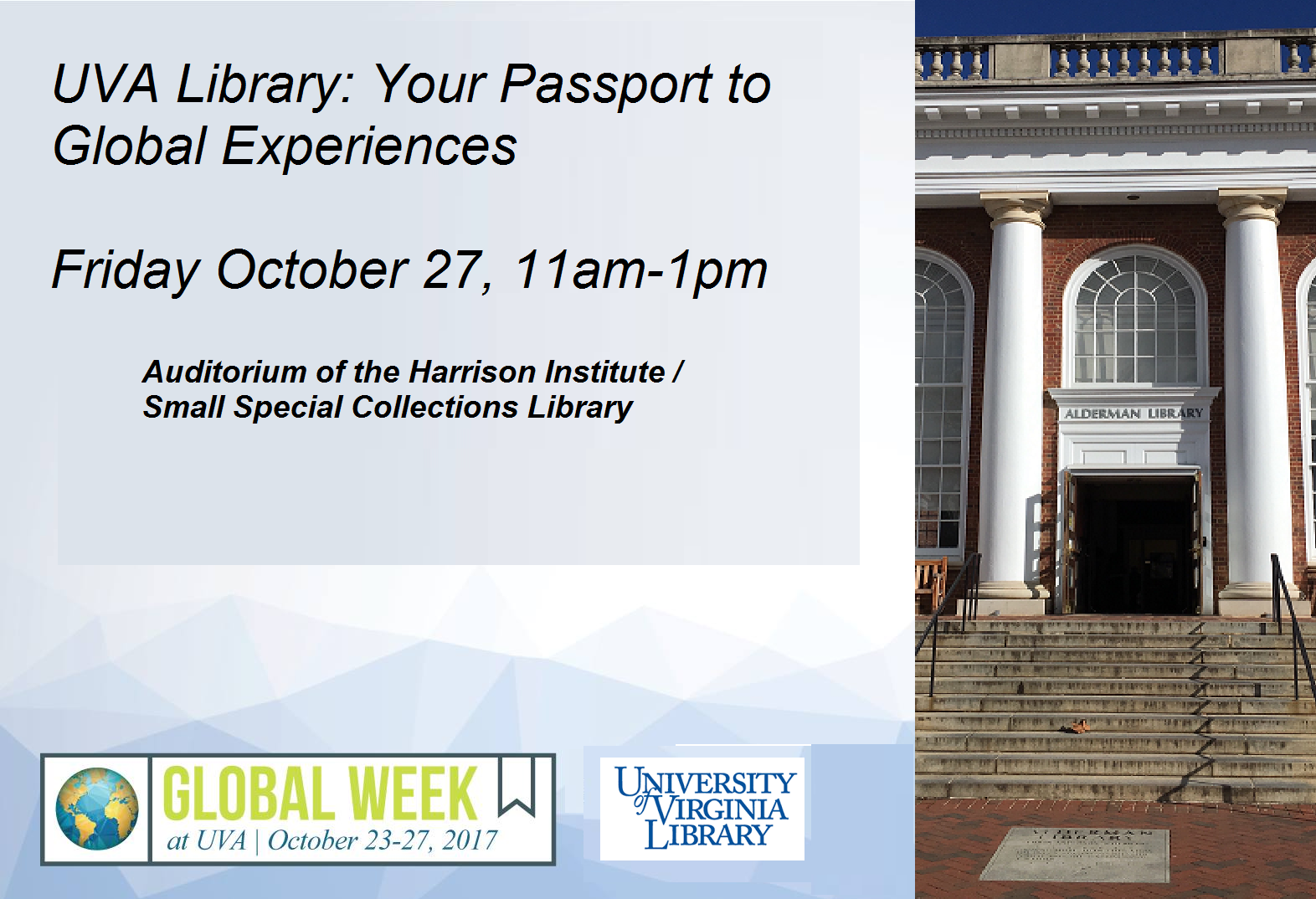 UVA Library: Your Passport to Global Experiences