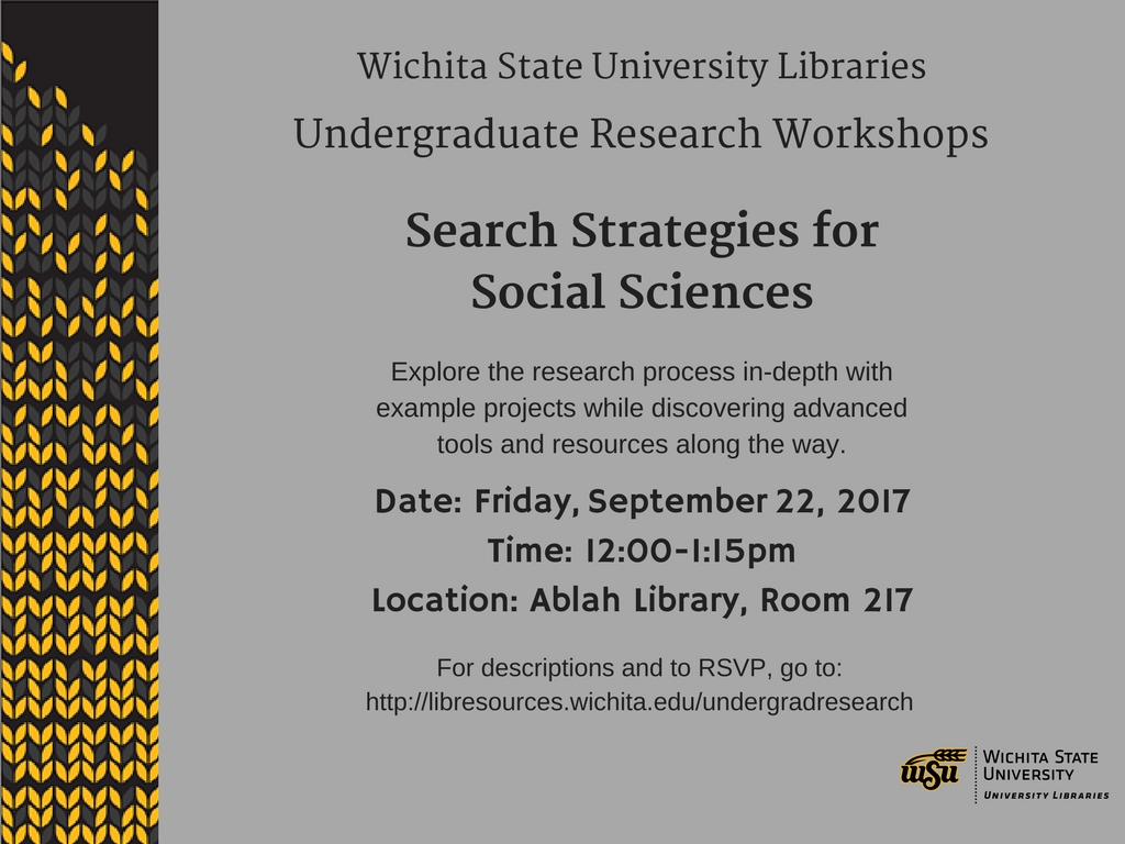 UGR Workshop: Search Strategies for Social Sciences