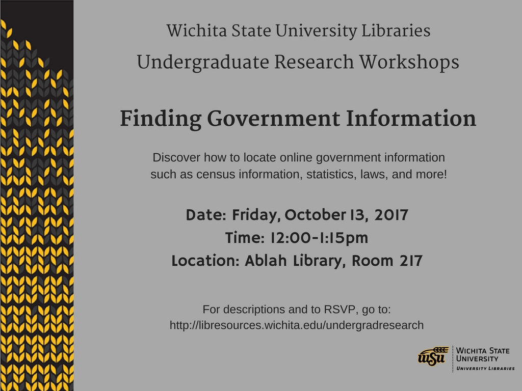 UGR Workshop: Finding Government Information