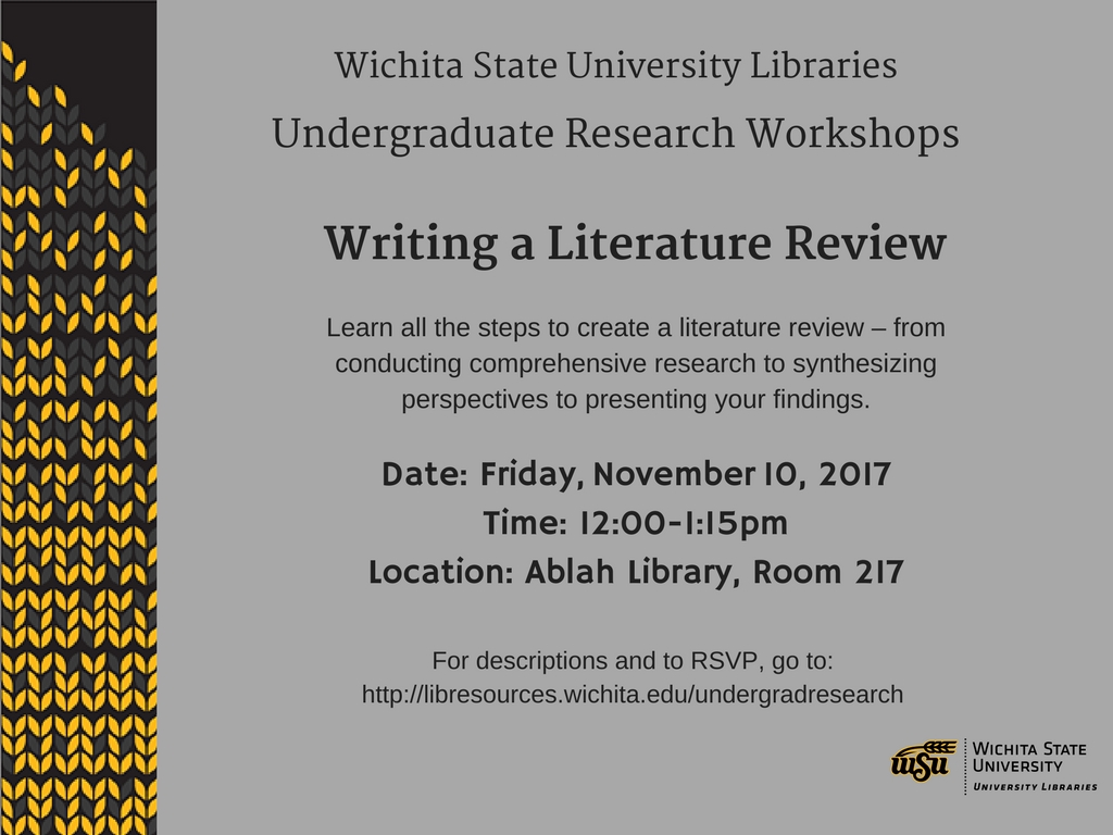 UGR Workshop: Writing a Literature Review
