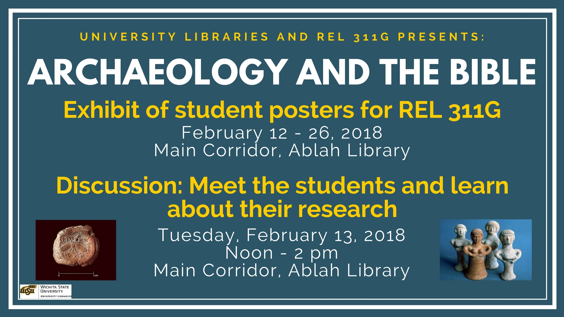 """Archaeology and the Bible"" Poster Discussion"