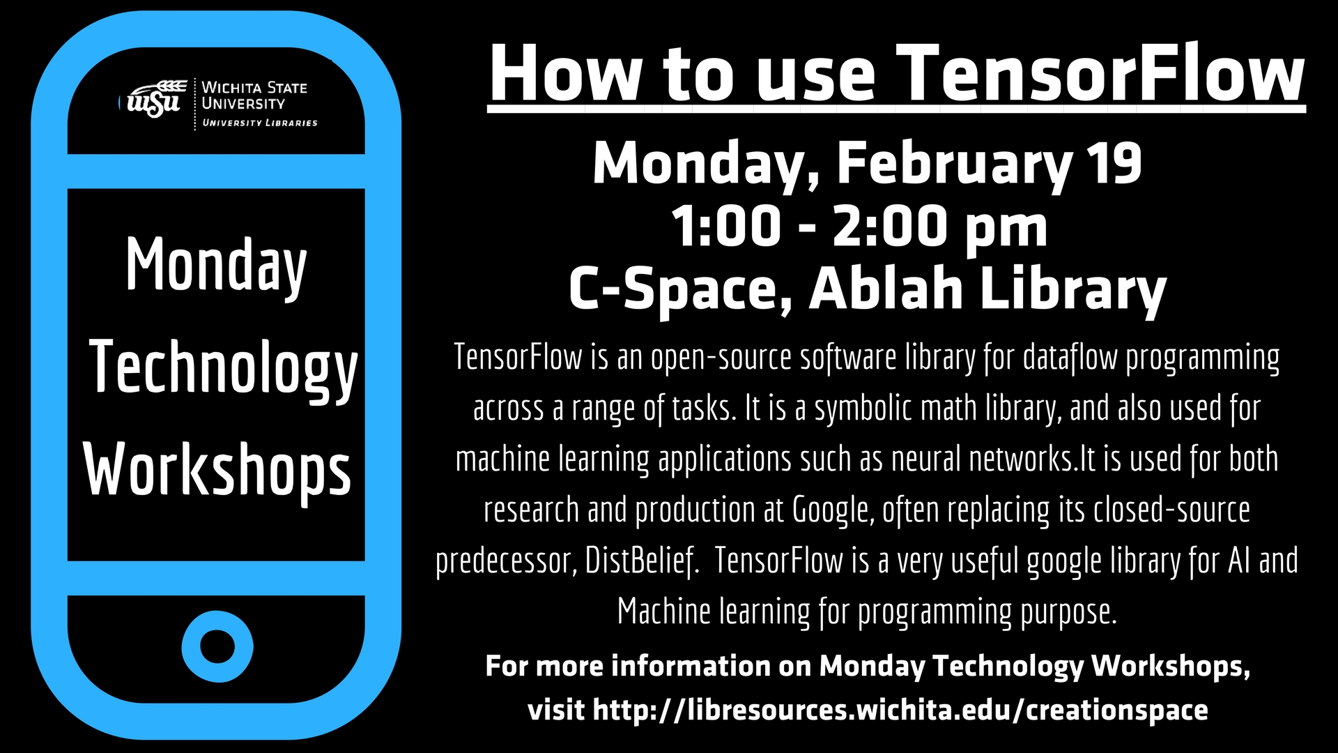 Monday Technology Workshop - TensorFlow