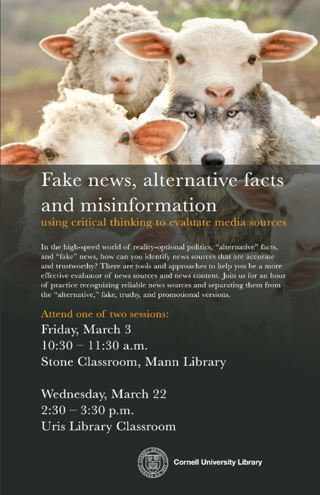Fake news, alternative facts and misinformation – using critical thinking to evaluate media sources