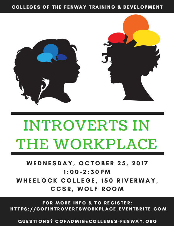 COF Training & Development: Introverts in the Workplace