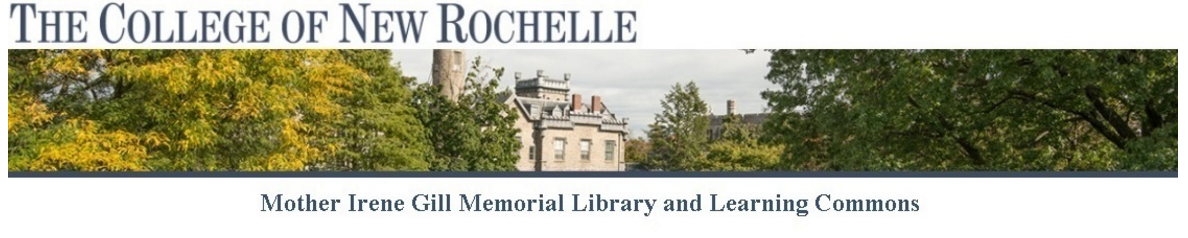 College of New Rochelle LibCal