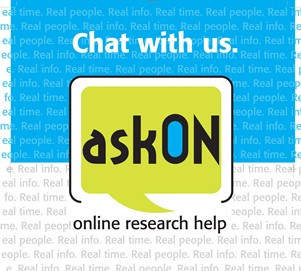 Chat with us. AskON. Online research help.