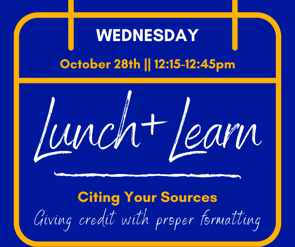Lunch & Learn: Citing Your Sources