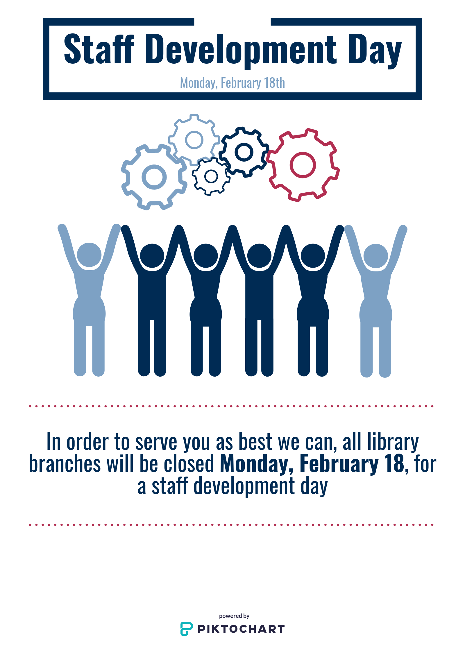 All Libraries Closed: Staff Development Day 2019
