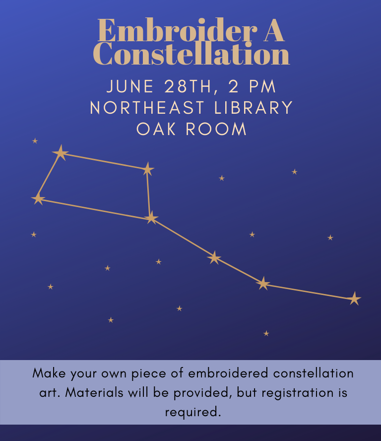 Embroider a Constellation