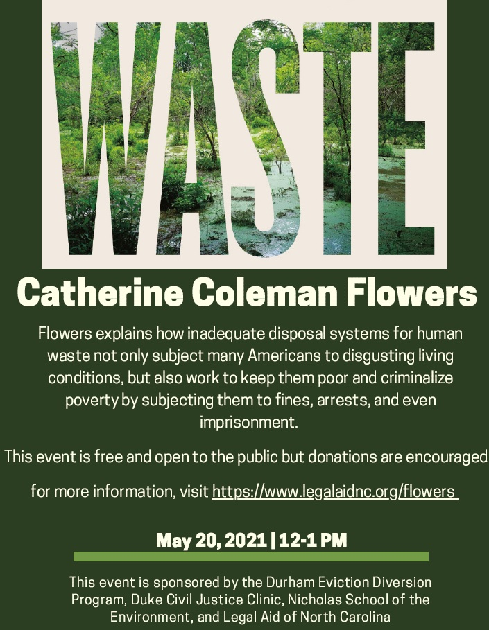 Waste: One Woman's Fight Against America's Dirty Secret; a virtual lecture by Catherine Coleman Flowers