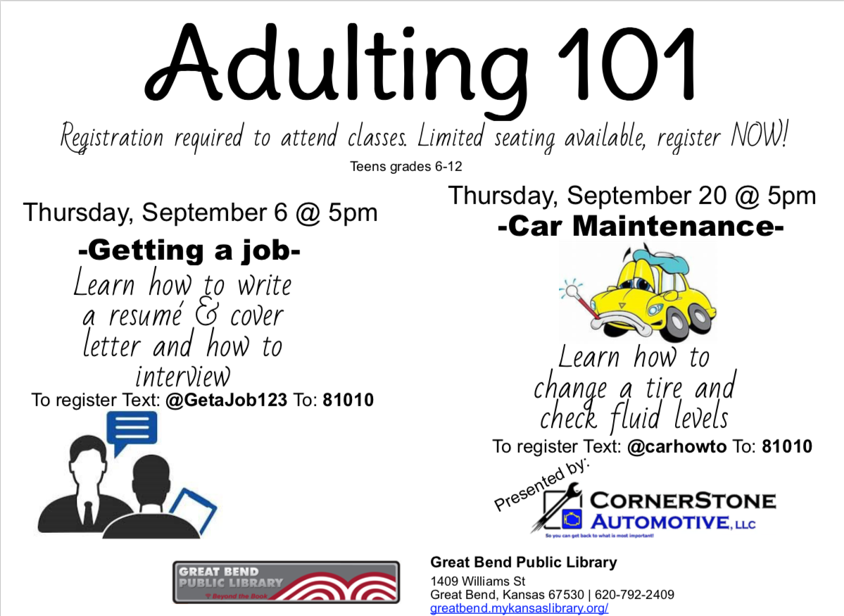 Adulting 101- Resumé/Interview Skills *Registration Required