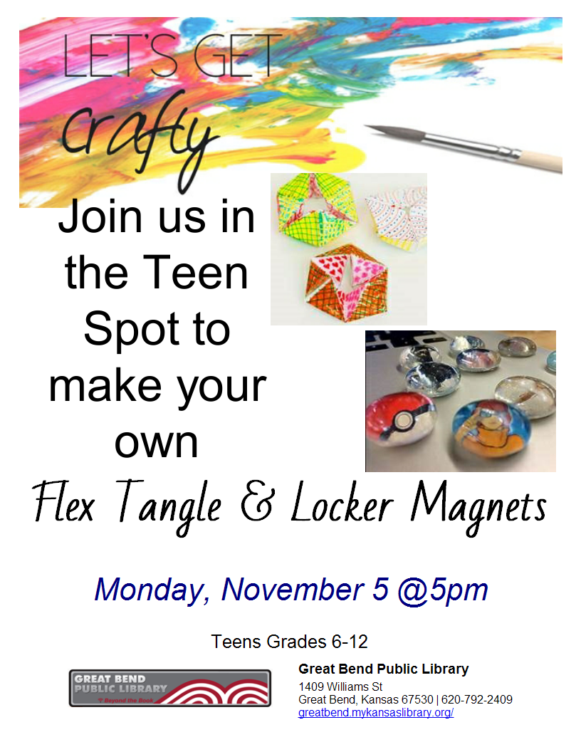 Make your own flex tangle and locker magnets!