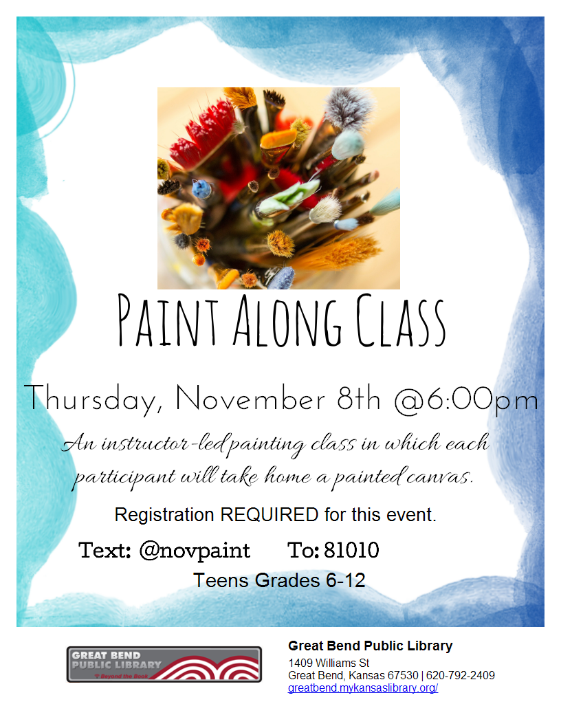 Paint along Class *REGISTRATION REQUIRED*