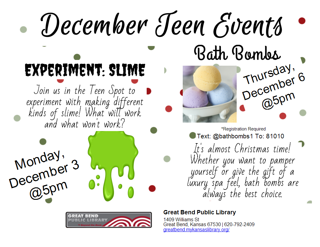 Bath Bombs! *REGISTRATION REQUIRED*