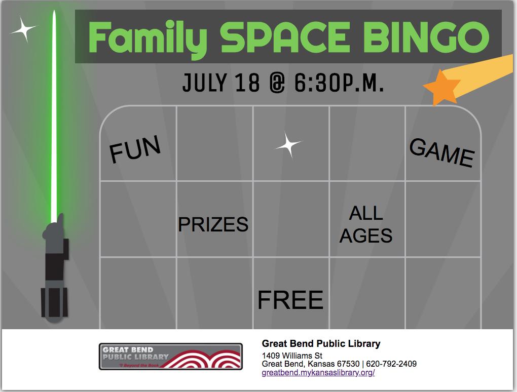 Space Family Bingo