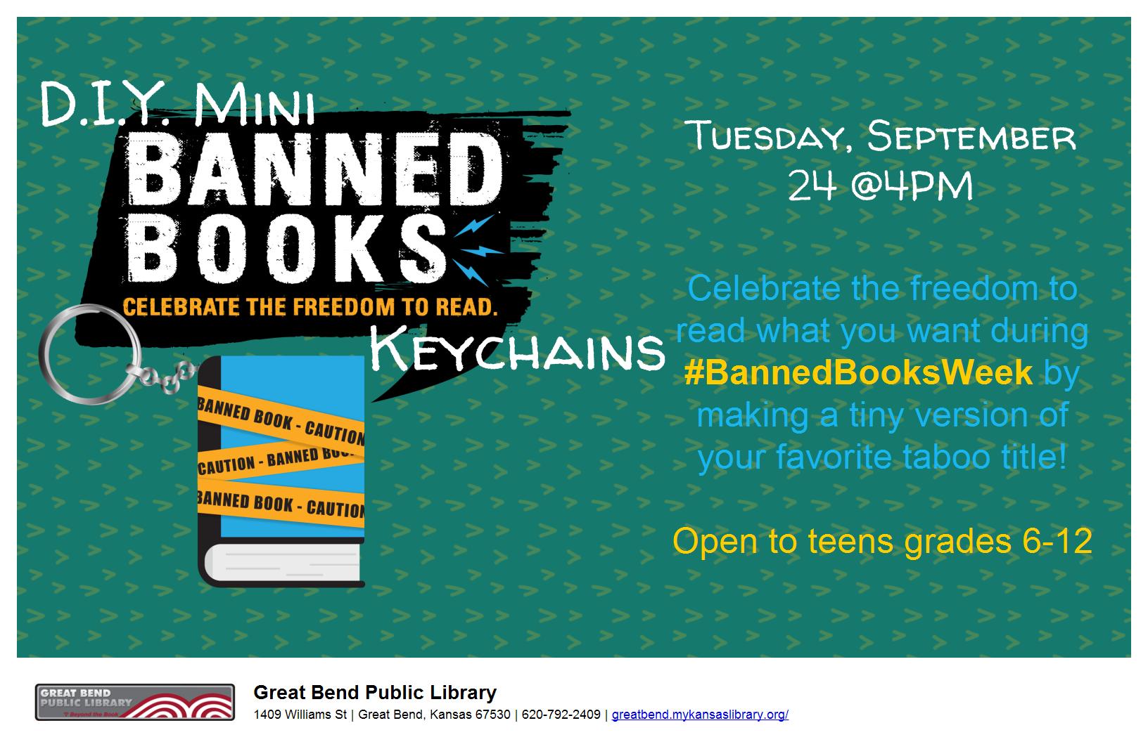 Teen Craft: D.I.Y Mini Banned Books Keychains
