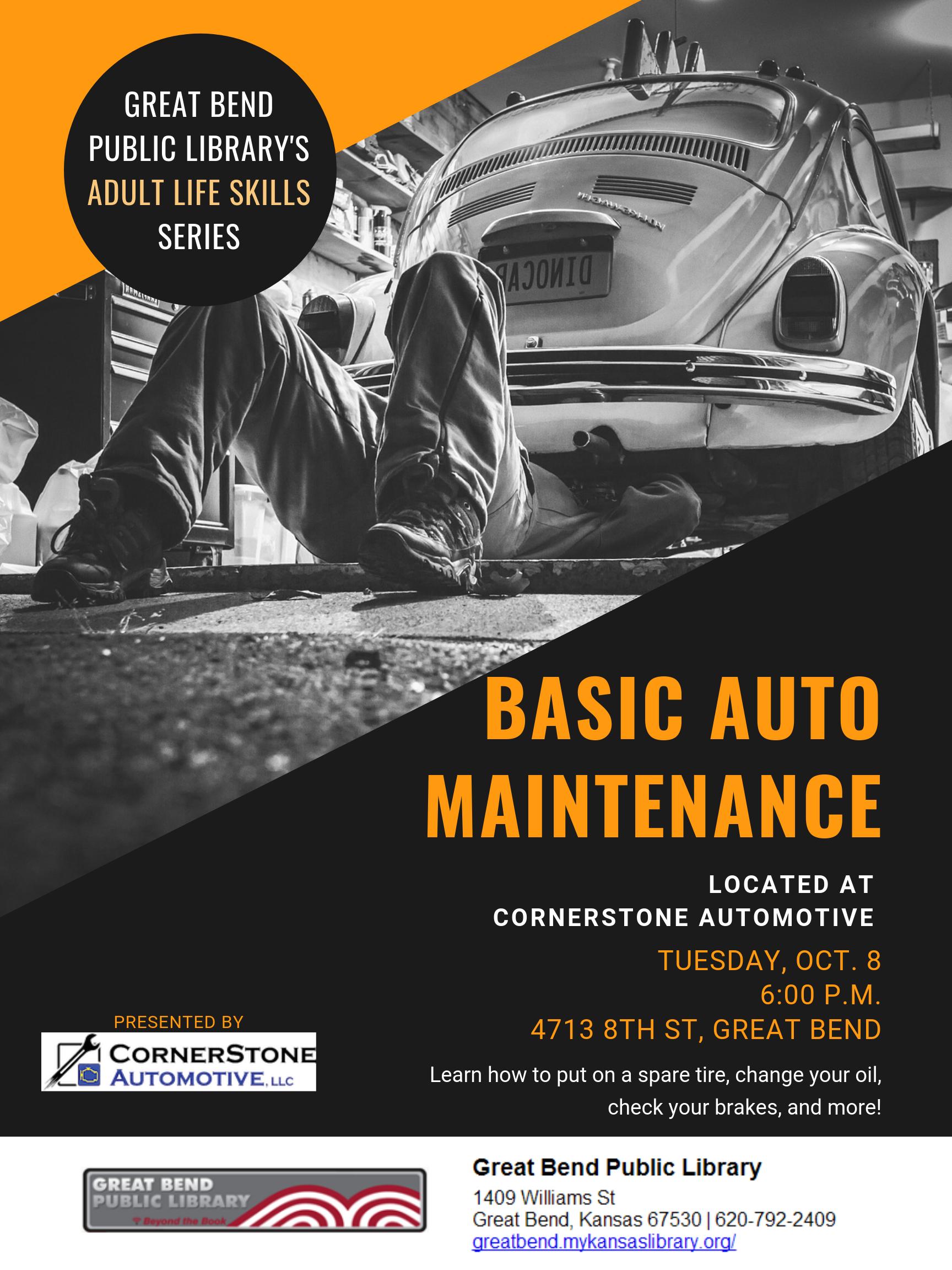 Basic Auto Maintenance (Adult Life Skills series)