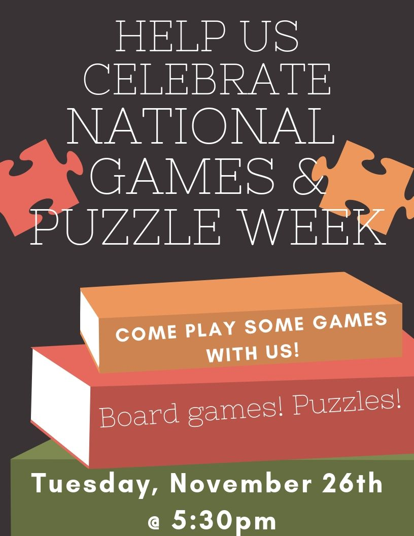 National Games & Puzzle Week Game Night