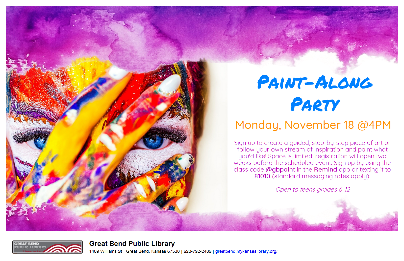 Paint-Along Party *Registration Required*