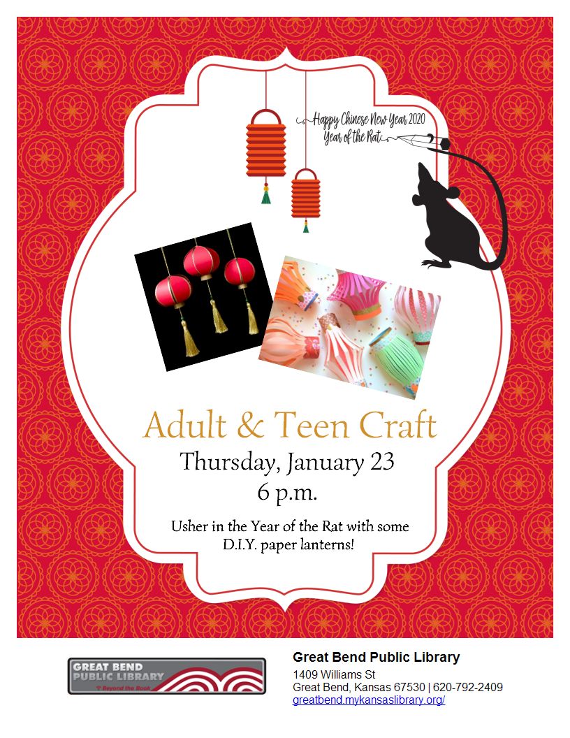Chinese New Year Craft (Adults & Teens)