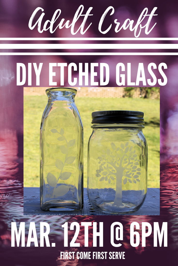 Adult Craft: DIY Etched Glass